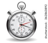 stopwatch   clock and time... | Shutterstock .eps vector #362863892