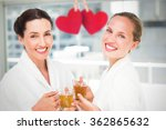couple friends having a spa day ... | Shutterstock . vector #362865632