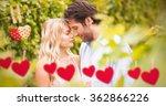 Young Romantic Couple Embracin...