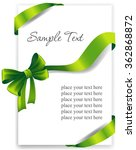 greeting card with a green... | Shutterstock .eps vector #362868872