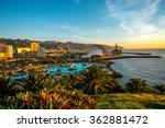 santa cruz cityscape view with... | Shutterstock . vector #362881472