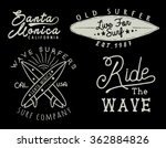 vintage style surfer vector set.   Shutterstock .eps vector #362884826