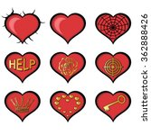 abstract hearts. set of useful... | Shutterstock .eps vector #362888426