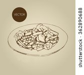 vector hand drawn food sketch... | Shutterstock .eps vector #362890688