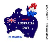 australia day theme. 26 january.... | Shutterstock .eps vector #362890925