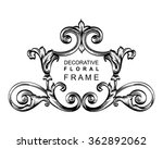 decorative floral frame with... | Shutterstock .eps vector #362892062