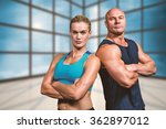 portrait of confident strong... | Shutterstock . vector #362897012