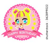 sweet girl with candy on a... | Shutterstock .eps vector #362899022