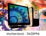 it technology business  desktop ...   Shutterstock . vector #3628996