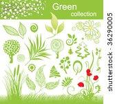 set of design elements. green... | Shutterstock .eps vector #36290005