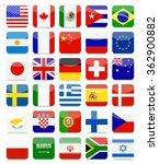 world flags flat square icon... | Shutterstock .eps vector #362900882
