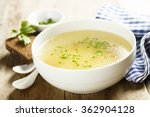 chicken broth with herbs | Shutterstock . vector #362904128