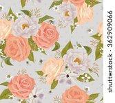 beautiful seamless floral... | Shutterstock .eps vector #362909066