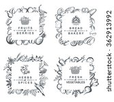 monochrome set of frames with... | Shutterstock .eps vector #362913992