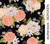 beautiful seamless floral... | Shutterstock .eps vector #362914376