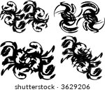 set of useful borders ... | Shutterstock .eps vector #3629206