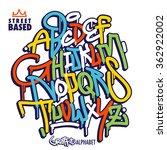 handlettering graffiti alphabet   Shutterstock .eps vector #362922002