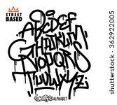 handlettering graffiti alphabet | Shutterstock .eps vector #362922005