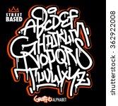 handlettering graffiti alphabet   Shutterstock .eps vector #362922008