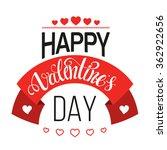 valentines day vintage label | Shutterstock .eps vector #362922656