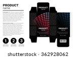 box design  die stamping.... | Shutterstock .eps vector #362928062