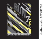athletic sport running... | Shutterstock .eps vector #362931236