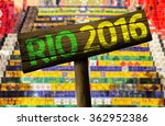 Rio 2016 Wooden Sign  Brazil