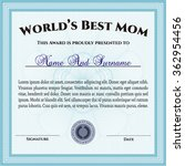 best mother award. customizable