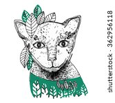 illustration with white cat. | Shutterstock . vector #362956118