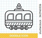 train doodle | Shutterstock .eps vector #362960336