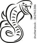snake caligraphy style | Shutterstock .eps vector #362961386