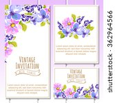 invitation with floral... | Shutterstock . vector #362964566