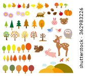 autumn elements | Shutterstock . vector #362983226