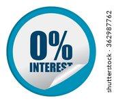 blue circle 0  interest ...   Shutterstock . vector #362987762