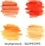 watercolor brushstrokes for... | Shutterstock .eps vector #362992595