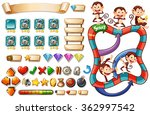 game template with monkeys... | Shutterstock .eps vector #362997542