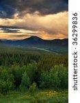 a late summer sunset along... | Shutterstock . vector #36299836