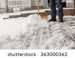 Cleaning The Street From Snow