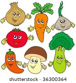 cute cartoon vegetable... | Shutterstock .eps vector #36300364