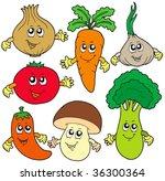 cute cartoon vegetable... | Shutterstock .eps vector #36300364