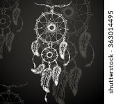 dreamcatcher  feathers and...   Shutterstock . vector #363014495