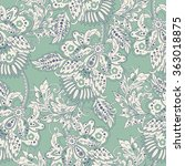 elegance seamless pattern with... | Shutterstock .eps vector #363018875