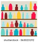 shelfs with cosmetics | Shutterstock .eps vector #363023192