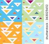 set  seamless geometric pattern ... | Shutterstock .eps vector #363025652