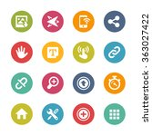 web and mobile icons 10   ... | Shutterstock .eps vector #363027422