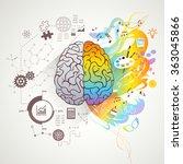 left right brain concept  | Shutterstock . vector #363045866