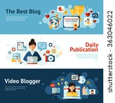 blogger banner set   Shutterstock . vector #363046022