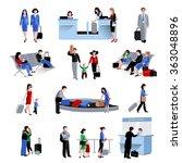 people in airport | Shutterstock . vector #363048896