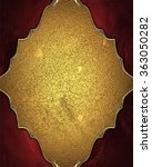gold nameplate. element for... | Shutterstock . vector #363050282