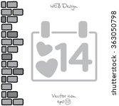 web line icon. valentine's day  ... | Shutterstock .eps vector #363050798